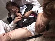 倉庫に連れ込まれ純白の下着を剥ぎ取られ襲われる美人教師