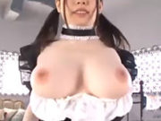Gカップおっぱいの巨乳メイドがお目覚めモーニングセックス♪