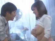 吉川あいみ(Hカップ)一般男女モニタリングAV マジックミラーの向こうには大好きな彼氏!