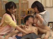 江上しほ(Gカップ)、佐々木ひな(Fカップ)ストレスが溜まりまくる保育士は超性欲旺盛で欲求不満のヤリマン巨乳女子だらけだった