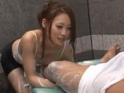 宮村恋(Dカップ)昼下がり限定 若妻洗体エステは勃起してしまったら内緒で抜いてくれた。