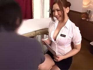 佐山愛(Hカップ)M男専用回春エステティシャンが密着性感でおもてなし