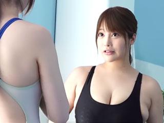 100cmJカップの巨乳プール監視員 益坂美亜